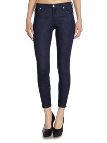 7 For All Mankind The Skinny crop jean in digital blue rinse