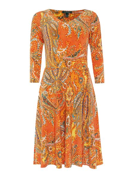 Lauren Ralph Lauren Verity 3/4 sleeve print dress
