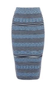 Space dye viscose stripe bandage skirt
