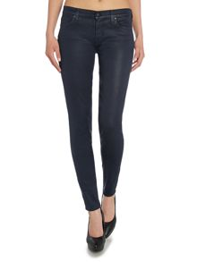 7 For All Mankind The Skinny jean in a matte coating gummy finish