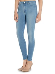 7 For All Mankind High waisted skinny jean in second skin light
