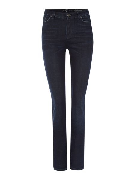 7 For All Mankind High waist vintage straight jean in aged denim