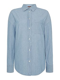 Chambray essential boyfriend shirt