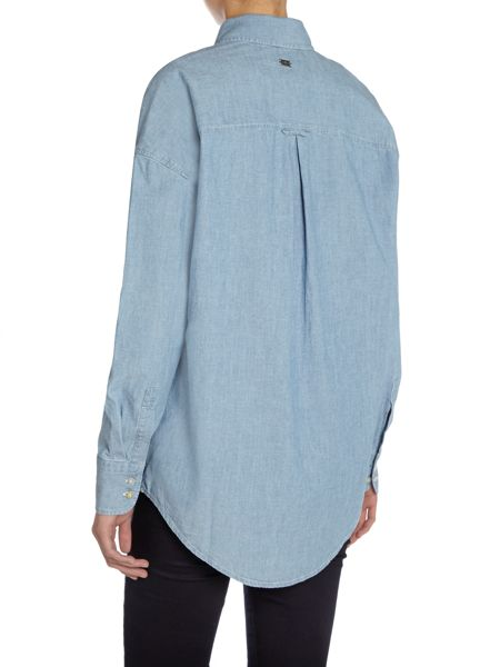 7 For All Mankind Chambray essential boyfriend shirt