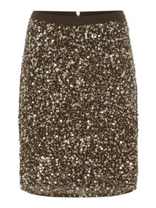 Biba Fully embellished zip back skirt