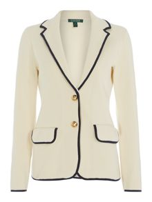 Kinadine jacket with contrast trim