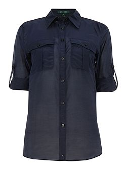 Ristow roll sleeve front pocket shirt