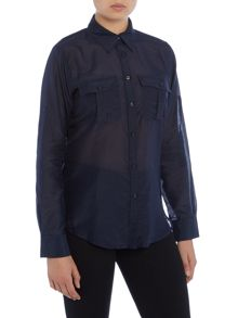 Lauren Ralph Lauren Ristow roll sleeve front pocket shirt