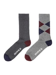 2 Pack Argyle Socks