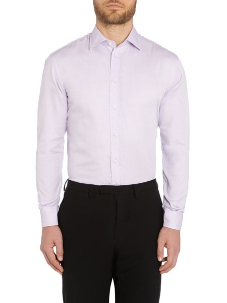 Armani Collezioni Textured Classic Fit Long Sleeve Shirt