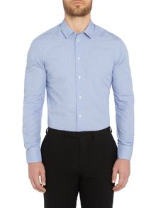 Armani Collezioni Textured Slim Fit Long Sleeve Shirt