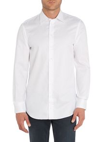 Textured Slim Fit Long Sleeve Shirt