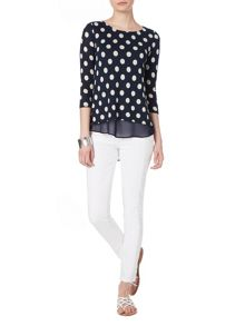 Phase Eight Kelly spot woven hem top
