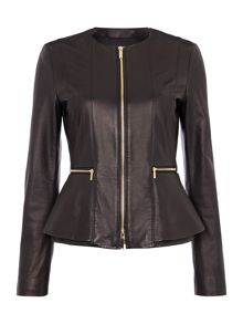 Sakira Peplum Leather Jacket