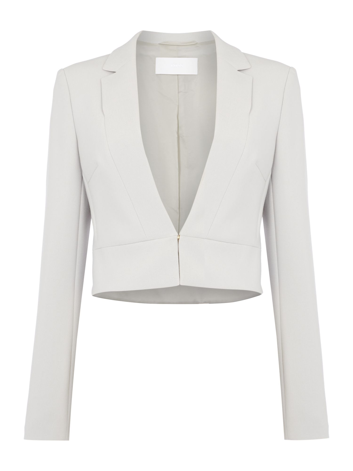 Hugo Boss Juleti Cropped Hook & Eye Jacket Grey