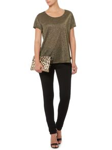 Metallic relaxed t-shirt