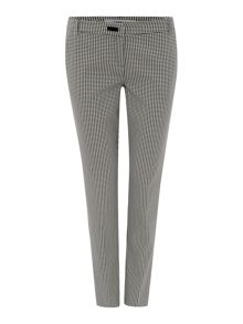 Cast houndstooth slim trousers