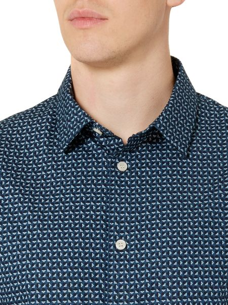 Linea Geo Print Long Sleeve Shirt
