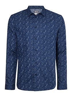 Men's Linea Floral Print Long Sleeve Shirt