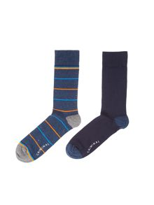 Criminal Stripe Socks, Pack of 2, One Size