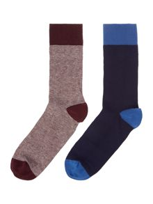 Linea 2 Pack Patterned Socks