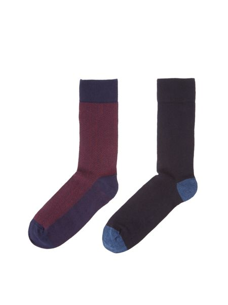 Linea 2 Pack Mini Patterned Sock