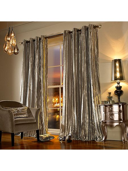 Iliana lined eyelet curtain in praline 90x90 for Living room curtains 90x90