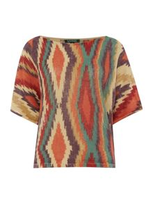 Battany 1/2 sleeve printed top