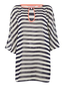 Twisted Stripe Cover Up