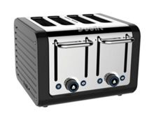 4 Slot Architect Toaster Black
