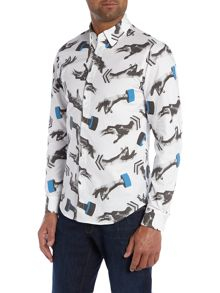 Classic Fit All Over Hand Print Shirt