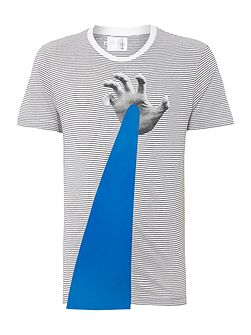 Regular Fit Hand Laser Graphic T-Shirt