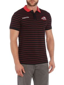 Scottish Rugby Stripe Polo Regular Fit Polo Shirt