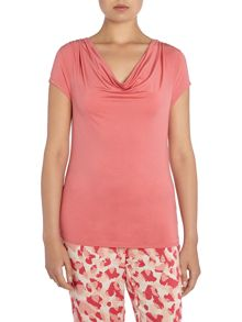 Calvin Klein Cowl Neck Short Sleeved Top