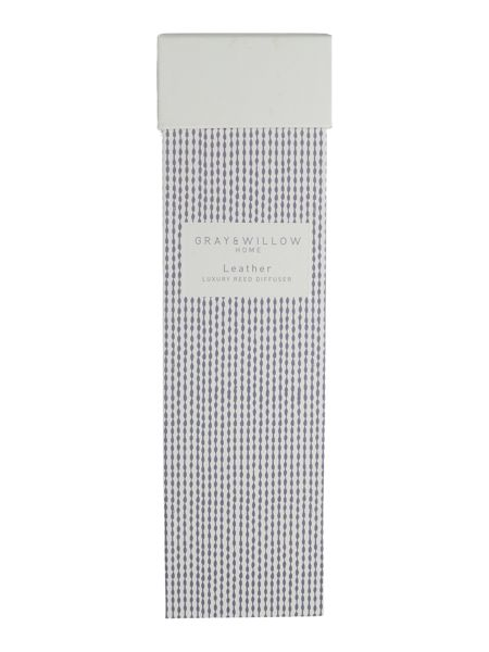 Gray & Willow Leather luxury scented reed diffuser