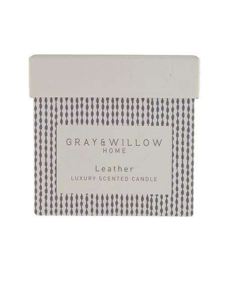 Gray & Willow Leather luxury scented candle