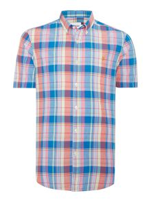 Farah Wylam Slim Fit Short Sleeve Check Shirt