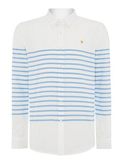 Maltby Slim Fit Placement Stripe Shirt