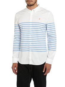 Farah Maltby Slim Fit Placement Stripe Shirt