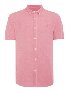 Farah Thirlby Slim Fit Short Sleeve Gingham Shirt