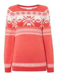 Linea Weekend Shadow Snowflake Jumper