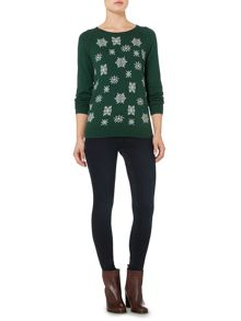 Linea Weekend Blizzard snowflake jumper