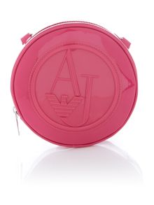 Pink round cross body bag