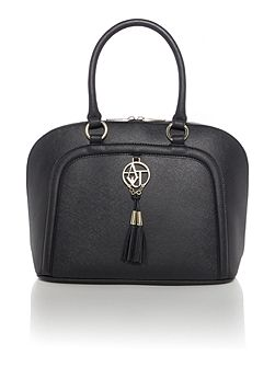 Black saffiano dome bag