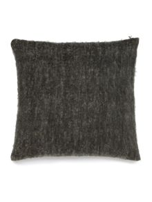 Gray & Willow Faux mohair cushion, grey