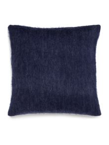 Faux mohair cushion, blue