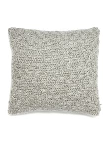 Gray & Willow Basketknit cushion, silver grey