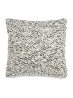 Basketknit cushion, silver grey