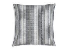 Broken stripe cushion, blue