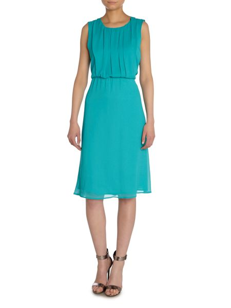 Y.A.S. Sleeveless cut out neck dress
